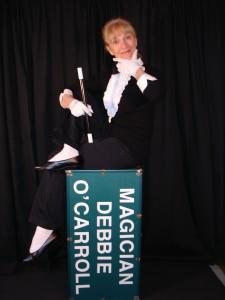 Magician Debbie O'Carroll